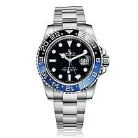 Годинник Rolex GMT Master II 40mm Silver/Black/Blue (Механіка). Replica: AAA.