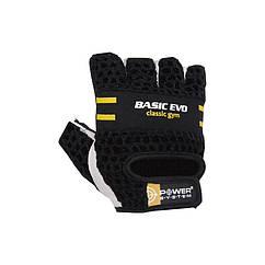 Перчатки для фитнеса и тяжелой атлетики Power System Basic EVO PS-2100 S Black-Yellow, КОД: 1214642