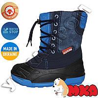 Детские сапоги синие р. 26-31 Alisa LINE Jeans