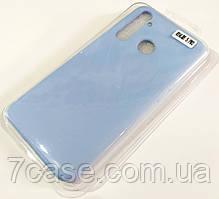 Чехол для Realme 5 Pro матовый Silicone Case Full Cover Macarons Color Голубой