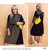 Платье спорт стиля с капюшоном двухнить 48-50,52-54,56-58, фото 2