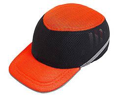 Каска-бейсболка ударостійка (оранжево-чорна)   Каска-бейсболка ударостійка
