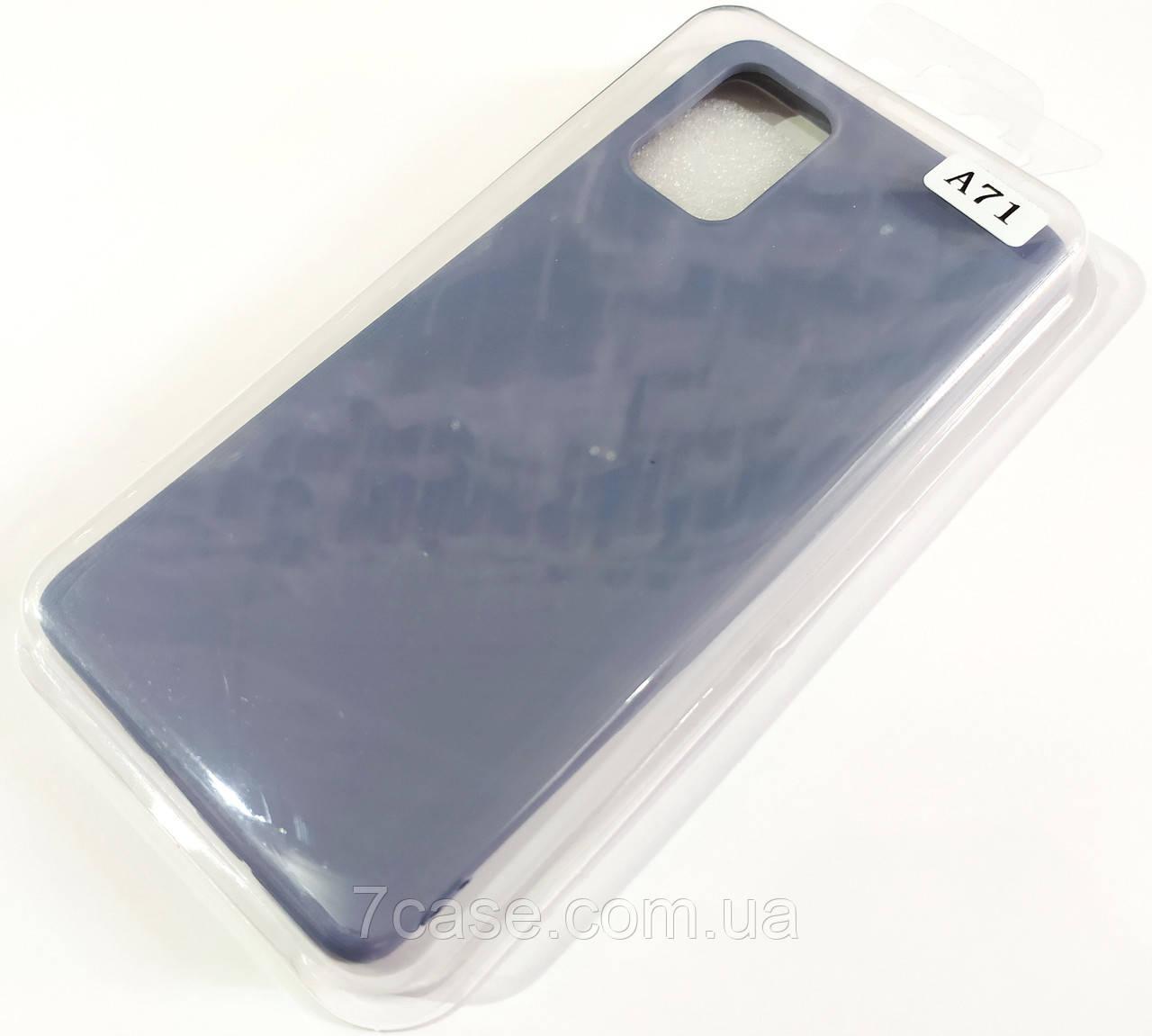 Чехол для Samsung Galaxy A71 A715F матовый Silicone Case Full Cover Macarons Color