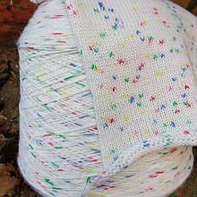 Носочная пряжа разноцветная белая
