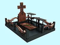 Комплекс памятника (лезники букинский) резная ограда