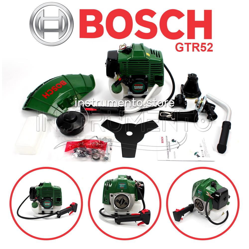 """Мотокоса Bosch GTR 52 (5.2 кВт, 2х тактный) Комплектация """"ЭКО"""". Бензокоса Бош, кусторез, триммер"""