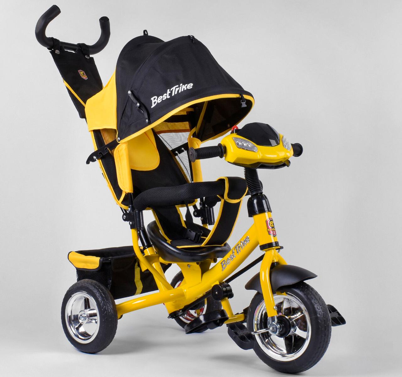 Детский3-хколёсный велосипед Best Trike 6588-21-909 с музыкальной панелью, фарами, колеса пена
