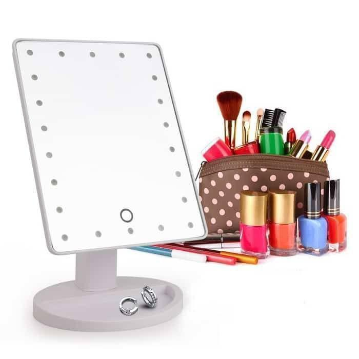 Настольное зеркало для макияжа + Подарок Антивозрастная сыворотка! Mirror Magic Make Up  (21x16)