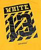 Худи мужские желтый OFF-WHITE с принтом №13 Т-2 L(Р) 19-581-201, фото 3