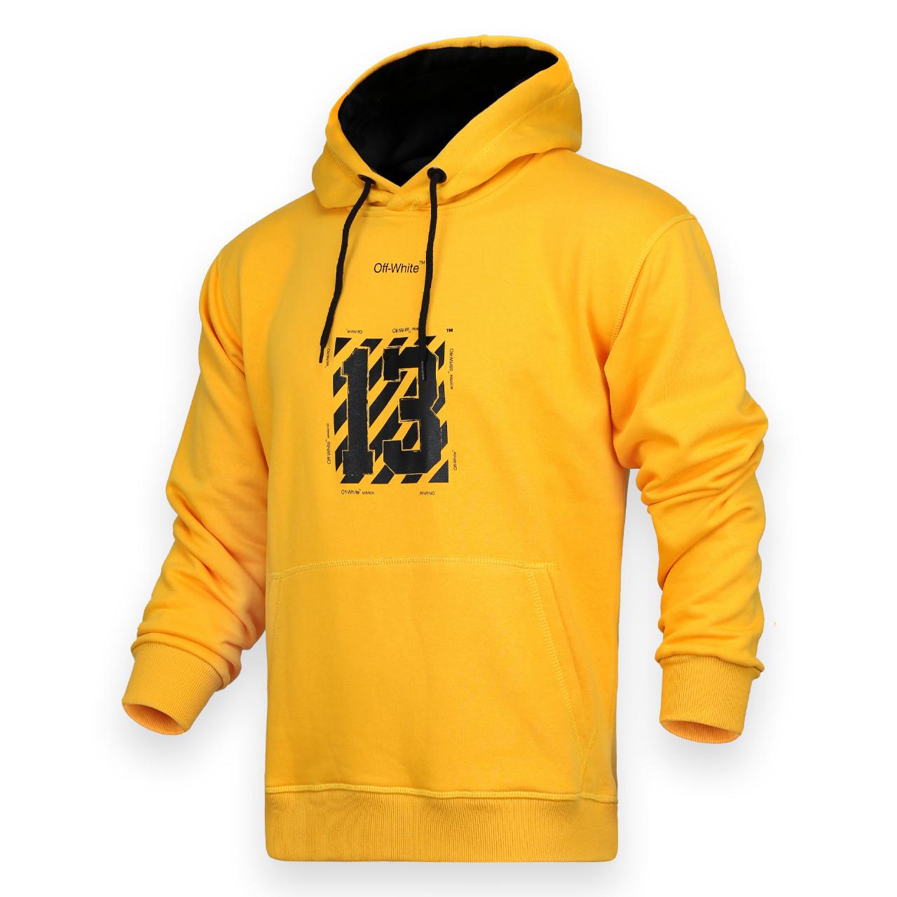 Худи мужские желтый OFF-WHITE с принтом №13 Т-2 YEL XL(Р) 19-581-201
