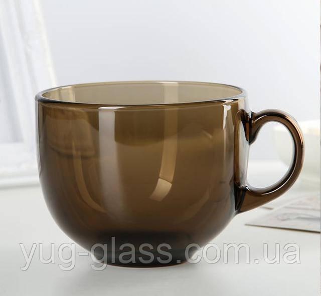 чашка 500 мл коричневая