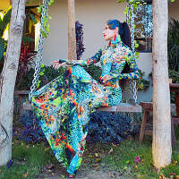 Сукню I am Juliet з принтом павича у вигляді рибного хвоста