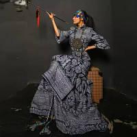 Довге Плаття Cheongsam в етнічному стилі
