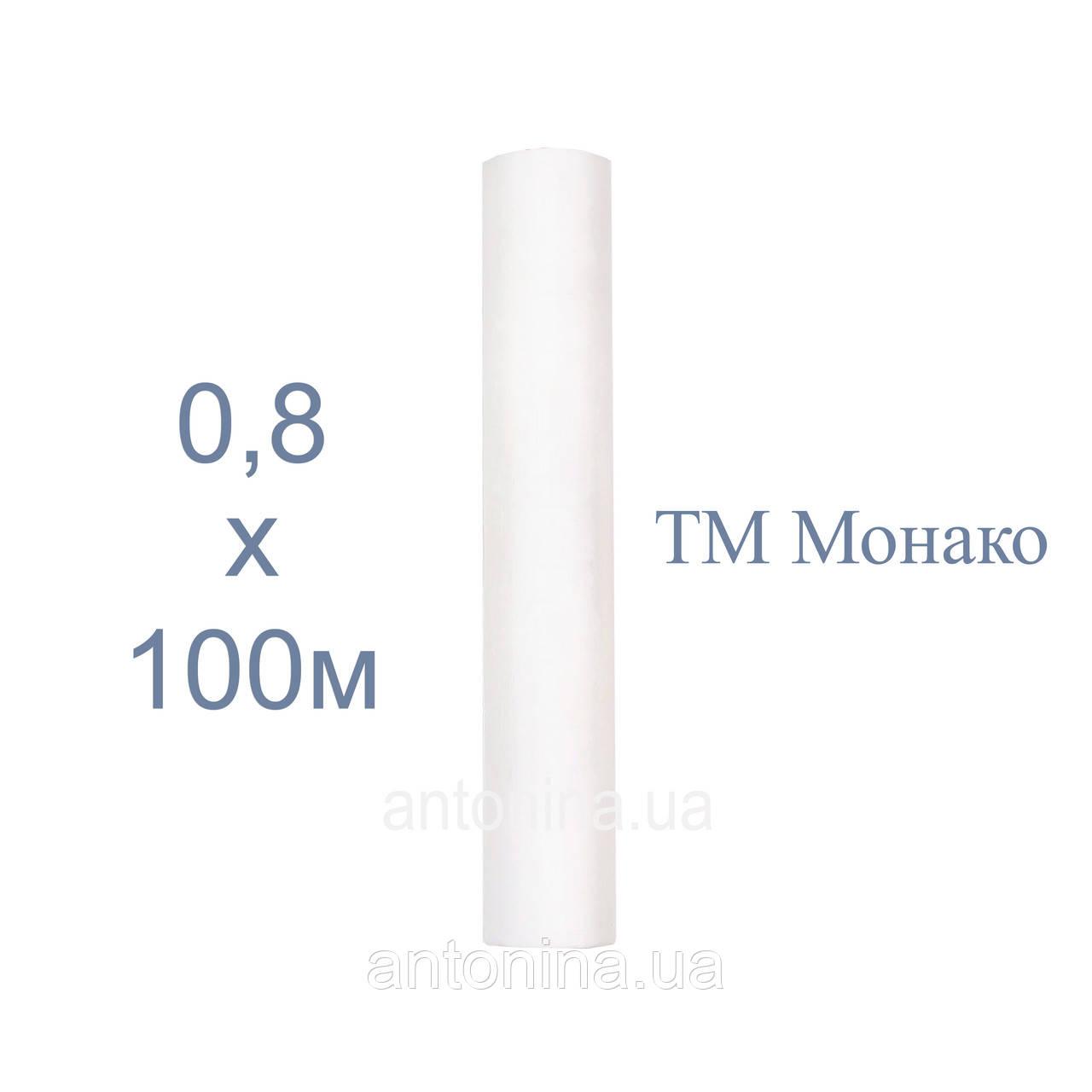"""Простыни одноразовые белые 0,8х100м ТМ """"Монако"""", спанбонд на кушетку"""