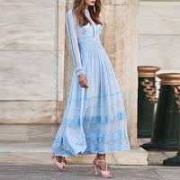 Мереживне плаття з великою спідницею-гойдалками, фото 1
