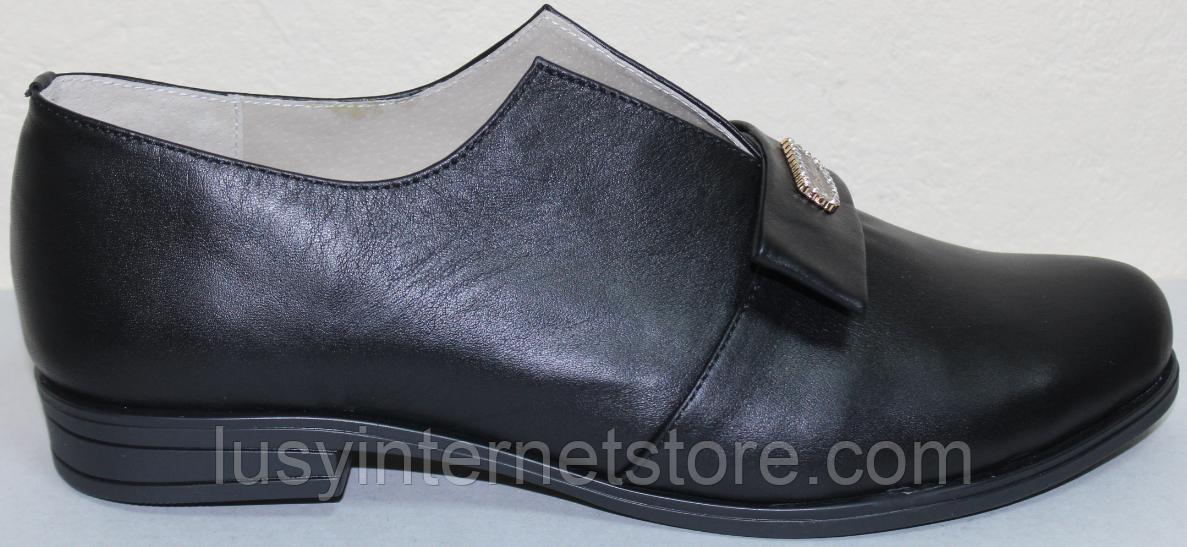 Туфли женские кожаные большого размера от производителя модель ВБ1212