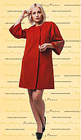 Пальто з вишивкою ПЛ 05, фото 1