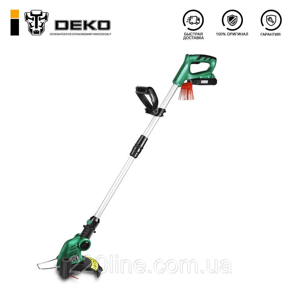 Аккумуляторный триммер для травы DEKO DKGT06 20V