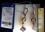 """Серебрянные удлиненные серьги, """"Куб и кольцо"""", фото 2"""