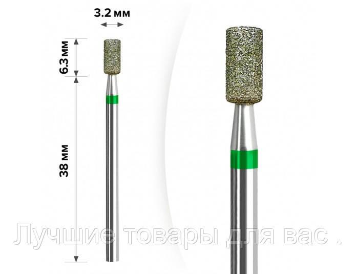 М-19 Алмазная насадка Цилиндр Green 3,2*6,3
