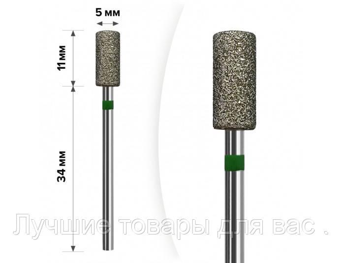 М-029 Алмазная насадка Цилиндр Green 5*11