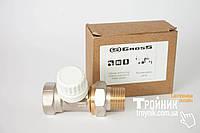 """Комплект кран 3/4""""прямой и термоголовка с выносним датчиком GROSS"""