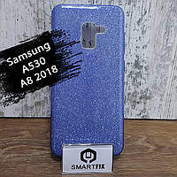 Блестящий силиконовый чехол для Samsung A8 2018 (A530) Синий, фото 1