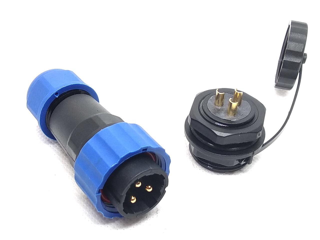 Герметичный разъем с защитой IP68 серии SP20 3Pin 3 контакта