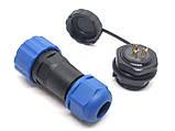 Герметичный разъем с защитой IP68 серии SP20 3Pin 3 контакта, фото 3