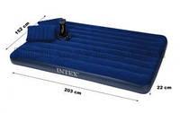 """Надувной матрас с подушками """"Intex"""" - двуспальный надувной матрас (152 х 203 см.)"""
