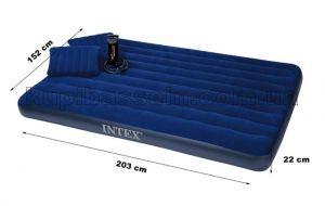 """Надувной матрас с подушками """"Intex"""" - двуспальный надувной матрас (152 х 203 см.), фото 1"""