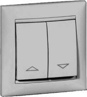 Механизм управления жалюзи с механической блокировкой, Valena белый, 774404