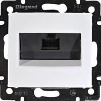 Механізм розетки комп'ютерної RJ45 кат 5 UTP одинарна Legrand Valena білий