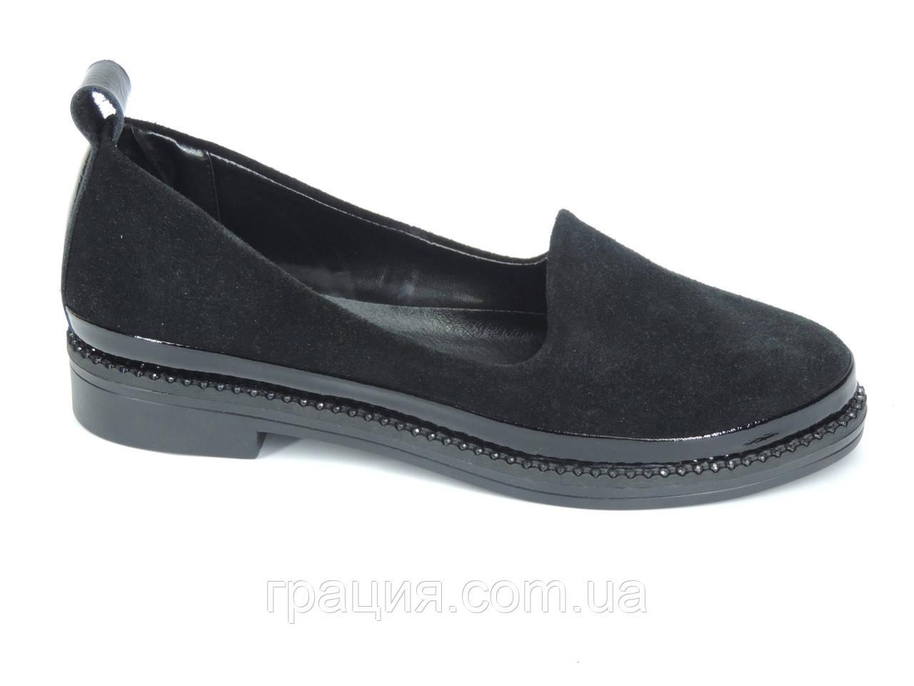 Модні жіночі замшеві туфлі