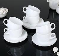 Набір чашок 220 мл з блюдцями Peps Evolution Luminarc 12 предметний.