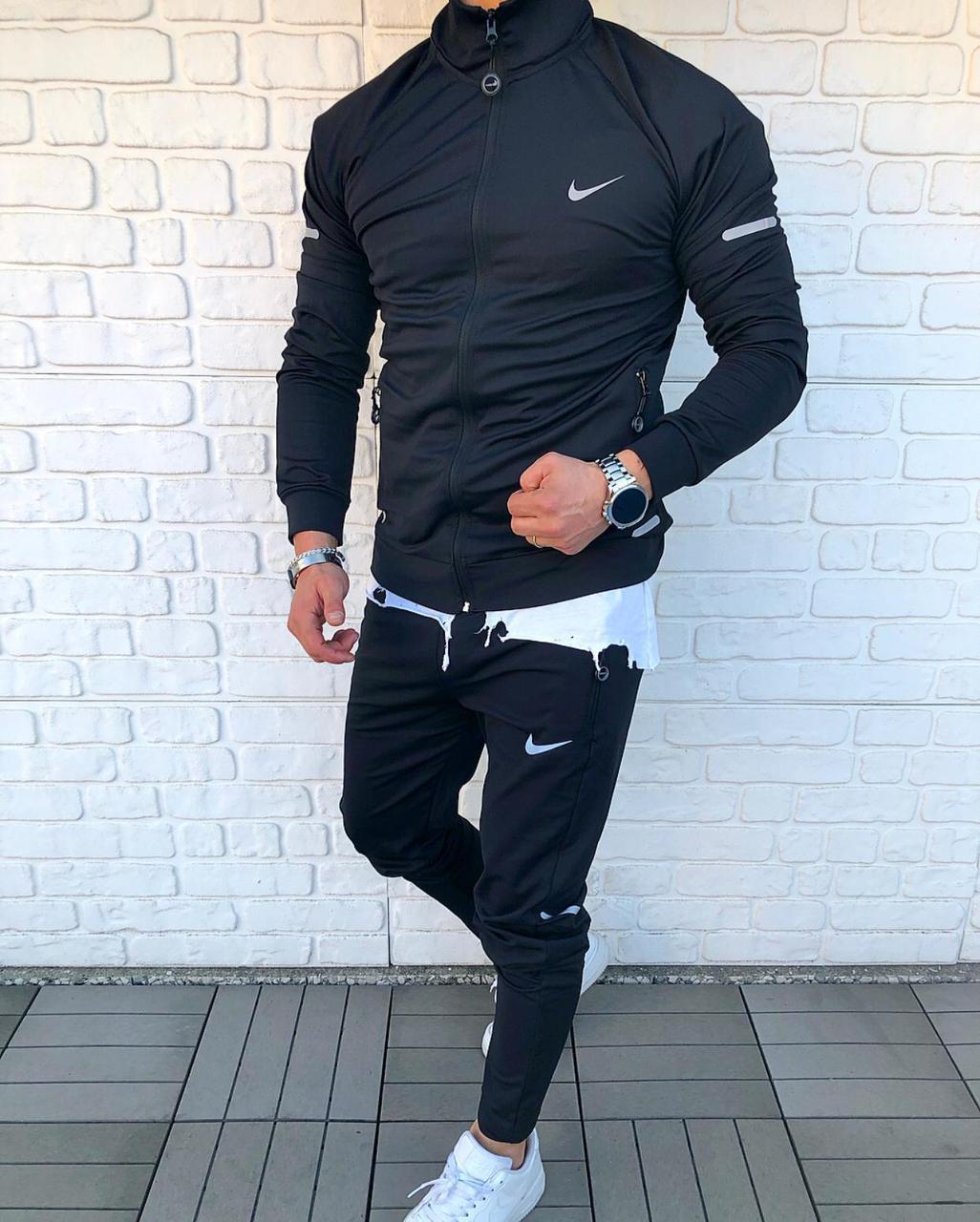 Спортивний костюм L, NIKE Classic чорний, Чоловічий, Поліестер, Нове