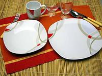 Набор 6 тарелок обеденных Square 27 см