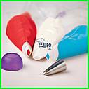 Плотные одноразовые кондитерские мешки 40.6*21.6 см, фото 10
