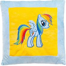 Маленькая плюшевая декоративная подушка Май литл Пони голубая