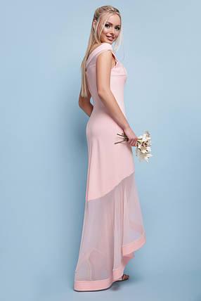 Жіноча вечірня сукня максі колір Пудра Розміри S, M, L, фото 2