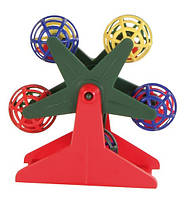 Trixie (Трикси) Игрушка для птиц карусель с шариками погремушками, пластик 10см
