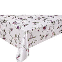 Декоративная клеенка на тканевой основе с цветочныйм принтом Неаполь 1.37х20м, ПВХ, клеенка ПВХ для стола,