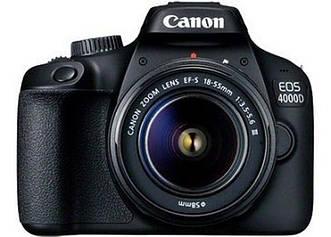 Фотоаппарат Canon EOS 4000D + объектив 18-55 DC III Black (3011C004)