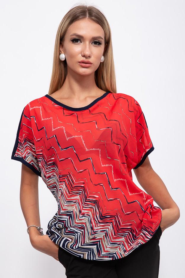 Блузка 115R2402-1 цвет Красный