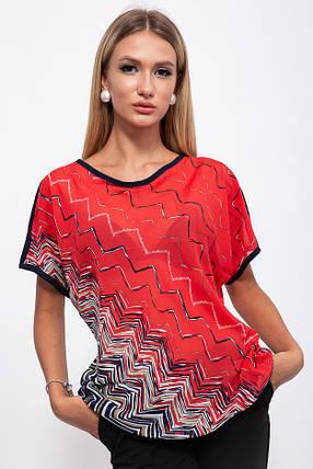 Блузка 115R2402-1 цвет Красный, фото 2