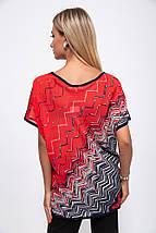 Блузка 115R2402-1 цвет Красный, фото 3