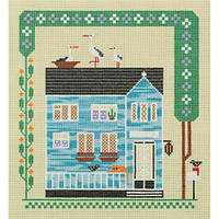 Набор для вышивания крестом Panna СЕ-7054 «Дом, в котором живет кот»