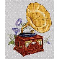 Набор для вышивания крестом Panna РЕ-ле-7134 «Мелодия сада. Граммофон (канва в горошек)»