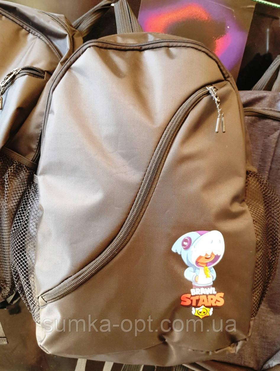 Молодежные рюкзаки с супергероями Brawl Stars (В ЧЕРНОМ)29х44см