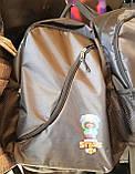 Молодежные рюкзаки с супергероями Brawl Stars (В ЧЕРНОМ)29х44см, фото 3